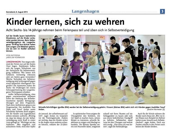 Hannoversche Zeitung 08.08.2015
