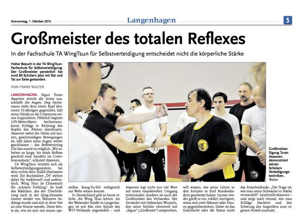 Nordhannoversche Zeitung Langenhag en Prüfungslehrgang 27.09.2015